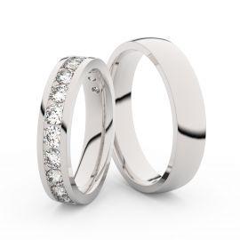 Snubní prsteny z bílého zlata s brilianty, pár - 3895