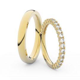 Snubní prsteny ze žlutého zlata s brilianty, pár - 3902