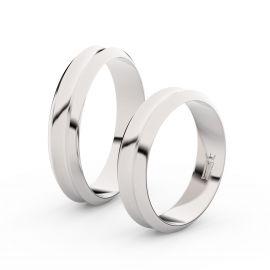 Snubní prsteny ze stříbra, 4.8 mm, konkávní, pár - 4B45