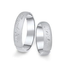 Snubní prsteny z bílého zlata, pár - 04