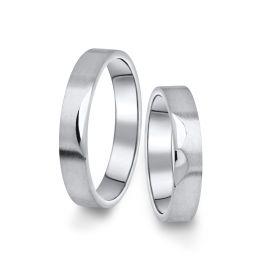 Snubní prsteny z bílého zlata, pár - 15
