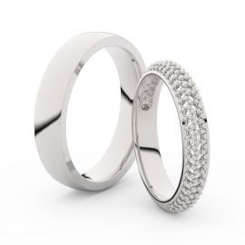 Snubní prsteny z bílého zlata s brilianty, pár - 3918