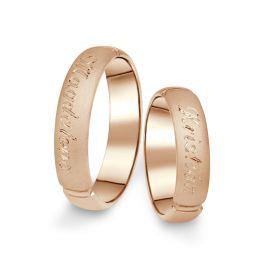 Snubní prsteny z růžového zlata, pár - 04