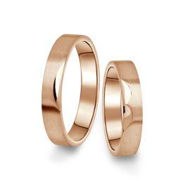 Snubní prsteny z růžového zlata, pár - 15