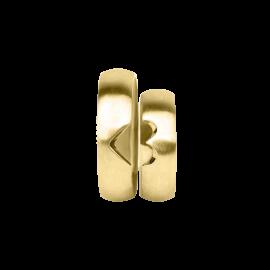 Snubní prsteny ze žlutého zlata, pár - 03