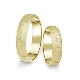 Snubní prsteny ze žlutého zlata, pár - 04