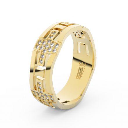 Dámský snubní prsten DF 3042 ze žlutého zlata, s brilianty