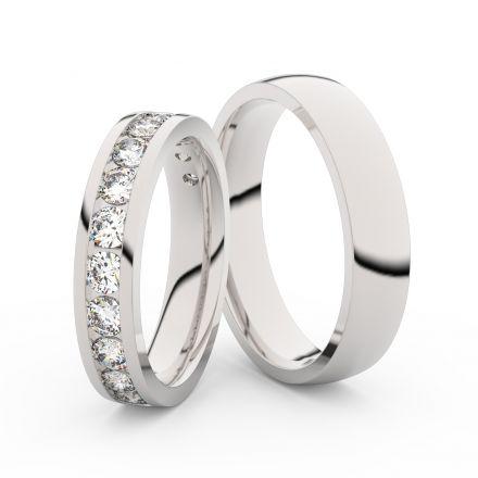 Zlatý dámský prsten DF 3895 z bílého zlata, s briliantem