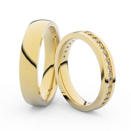 Zlatý dámský prsten DF 3897 ze žlutého zlata, s briliantem