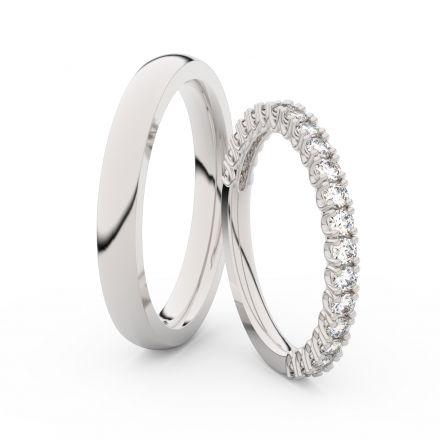 Zlatý dámský prsten DF 3902 z bílého zlata, s briliantem