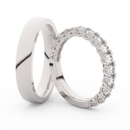Zlatý dámský prsten DF 3904 z bílého zlata, s briliantem