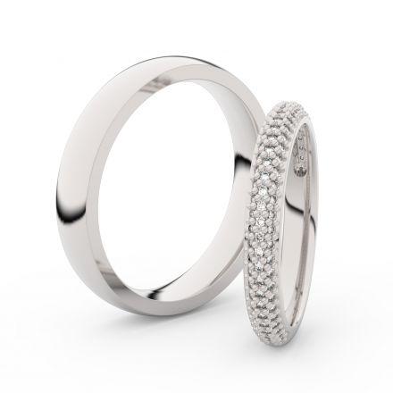 Zlatý dámský prsten DF 3911 z bílého zlata, s briliantem