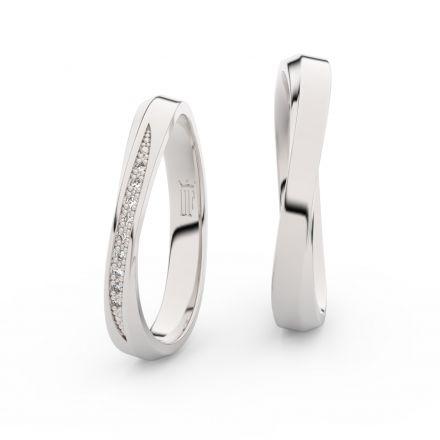 Zlatý dámský prsten DF 3017 z bílého zlata, s briliantem
