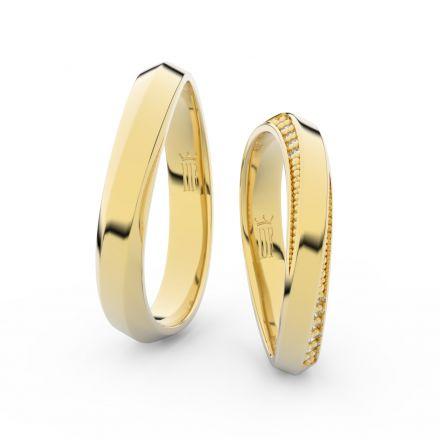 Zlatý dámský prsten DF 3023 ze žlutého zlata, s briliantem