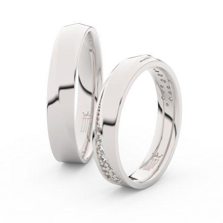 Zlatý dámský prsten DF 3025 z bílého zlata, s brilianty