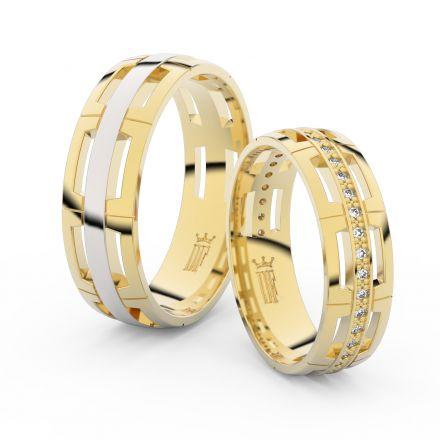 Zlatý dámský prsten DF 3048 ze žlutého zlata, s briliantem