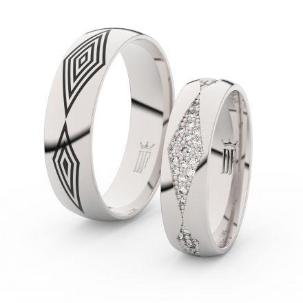 Zlatý dámský prsten DF 3074 z bílého zlata, s briliantem