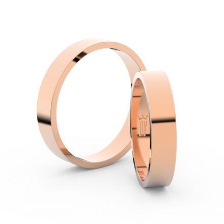 Zlatý snubní prsten FMR 1G40 z růžového zlata, bez kamene