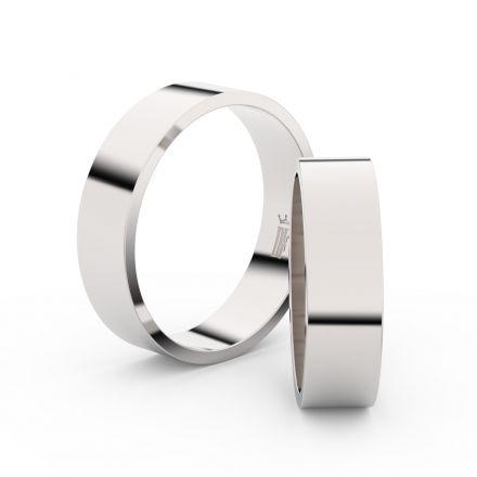 Zlatý snubní prsten FMR 1G55 z bílého zlata, bez kamene