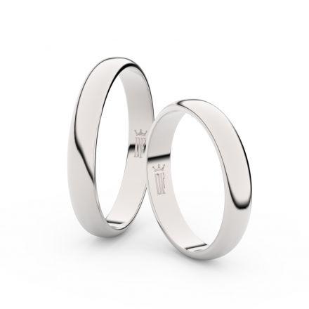 Zlatý snubní prsten FMR 2B35 z bílého zlata, bez kamene