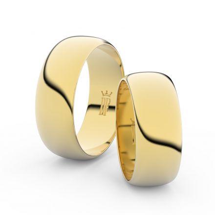 Zlatý snubní prsten FMR 3C75 ze žlutého zlata, bez kamene