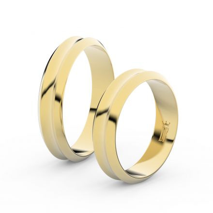 Zlatý snubní prsten FMR 4B45 ze žlutého zlata, bez kamene
