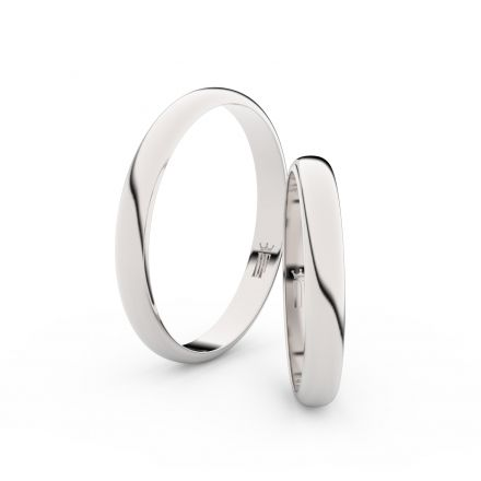 Zlatý snubní prsten FMR 4F30 z bílého zlata, bez kamene