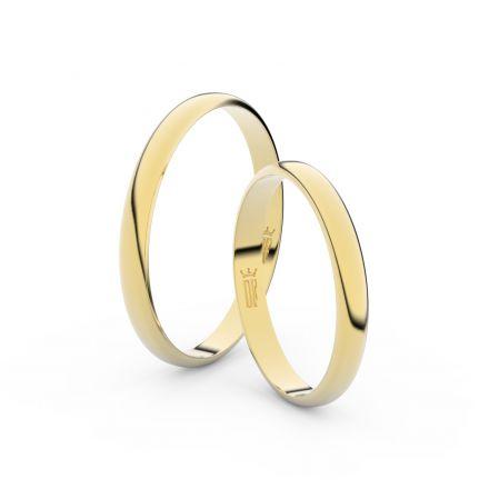 Zlatý snubní prsten FMR 4G25 ze žlutého zlata, bez kamene