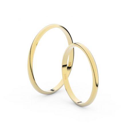 Zlatý snubní prsten FMR 4I17 ze žlutého zlata, bez kamene