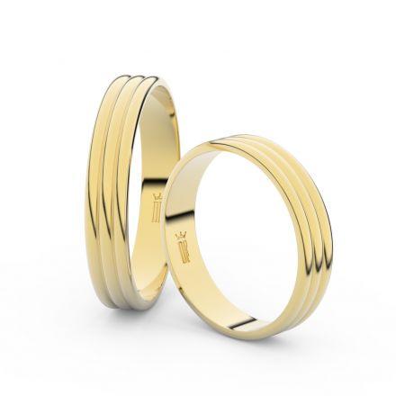 Zlatý snubní prsten FMR 4K37 ze žlutého zlata, bez kamene