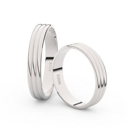 Zlatý snubní prsten FMR 4K37 z bílého zlata, bez kamene