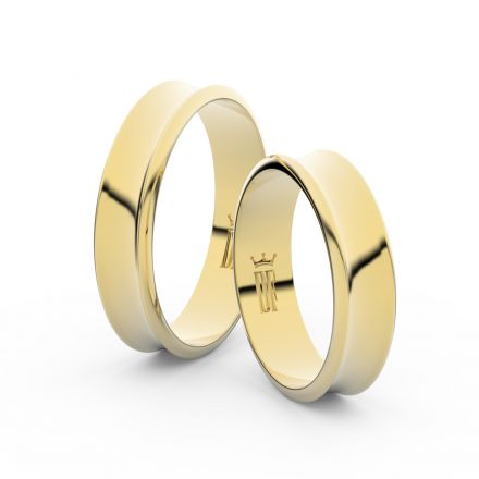 Zlatý snubní prsten FMR 5A50 ze žlutého zlata, bez kamene