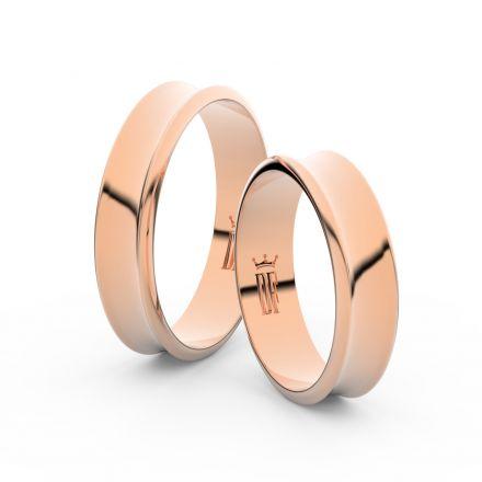 Zlatý snubní prsten FMR 5A50 z růžového zlata, bez kamene