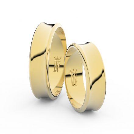Zlatý snubní prsten FMR 5C57 ze žlutého zlata, bez kamene