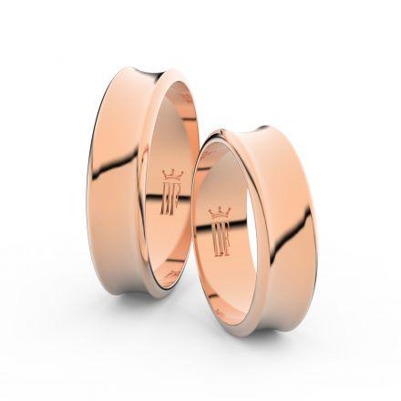 Zlatý snubní prsten FMR 5C57 z růžového zlata, bez kamene