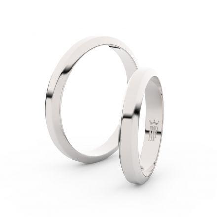 Stříbrný snubní prsten FMR 6B32, bez kamene
