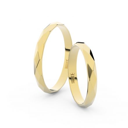 Zlatý snubní prsten FMR 8B30 ze žlutého zlata, bez kamene