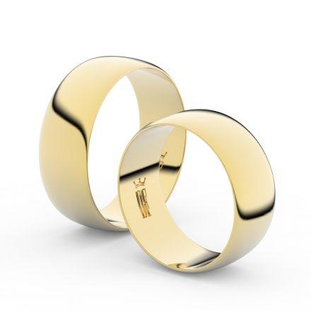 Zlatý snubní prsten FMR 9B80 ze žlutého zlata, bez kamene