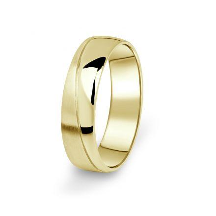 Prsten Danfil DF01/P žluté zlato 585/1000 s bez kameneem povrch brus