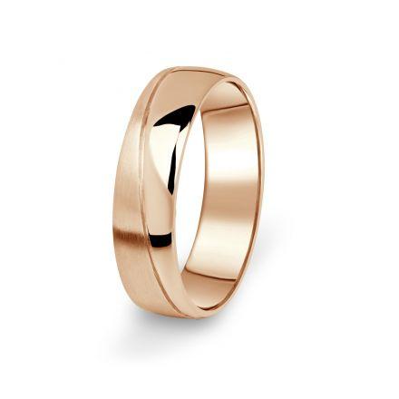 Prsten Danfil DF01/P červené(růžové) zlato 585/1000 s bez kameneem povrch brus