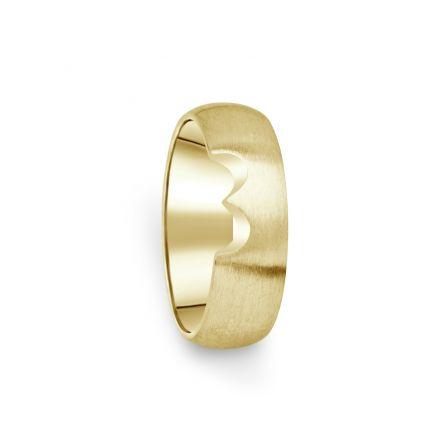 Prsten Danfil DF03/D žluté zlato 585/1000 bez kamene, povrch brus