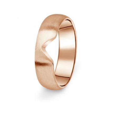 Prsten Danfil DF03/P červené(růžové) zlato 585/1000 bez kamene, povrch brus