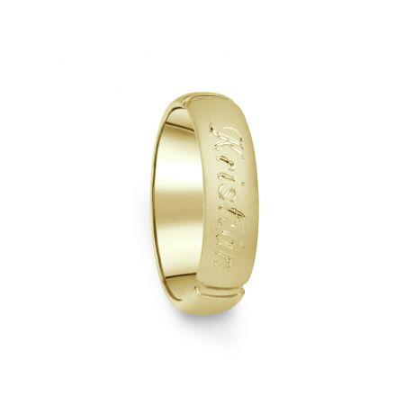 Prsten Danfil DF04/D žluté zlato 585/1000 s bez kameneem povrch písek