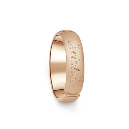 Prsten Danfil DF04/D červené(růžové) zlato 585/1000 s bez kameneem povrch písek
