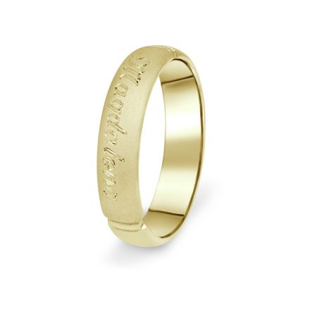 Prsten Danfil DF04/P žluté zlato 585/1000 s bez kameneem povrch písek