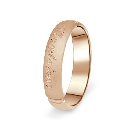Prsten Danfil DF04/P červené(růžové) zlato 585/1000 s bez kameneem povrch písek