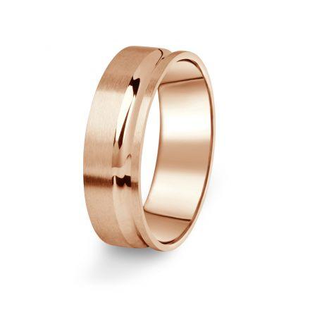 Prsten Danfil DF07/P červené(růžové) zlato 585/1000 s bez kameneem povrch brus