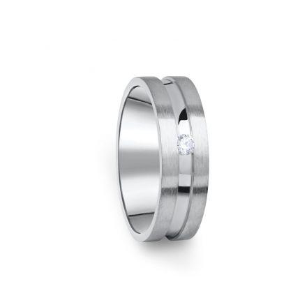 Zlatý dámský prsten DF 08/D z bílého zlata, s briliantem