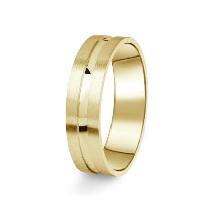 Prsten Danfil DF08/P žluté zlato 585/1000 s bez kameneem povrch brus