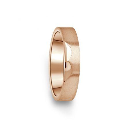 Prsten Danfil DF15/D červené(růžové) zlato 585/1000 bez kamene, povrch brus